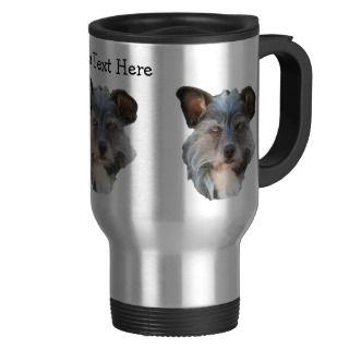 Cute Terrier Mutt Mixed Breed Dog Travel Mug