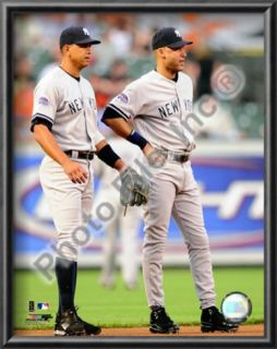 Alex Rodriguez & Derek Jeter 2008 Action Prints