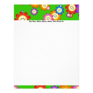 Happy Flowers Wallpaper, Happy Flowers WallpapeLetterhead Design