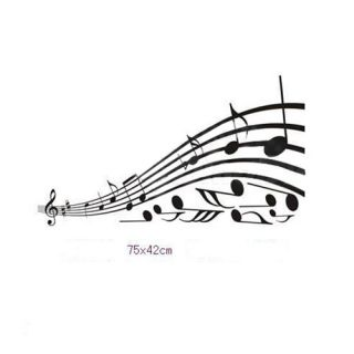 New Music Note DIY Art Wall Home Decals Mural PVC Stickers Wallpaper