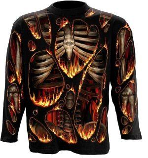SPIRAL I N F E R N O* Lang Arm Shirt Goth M   XXL 103