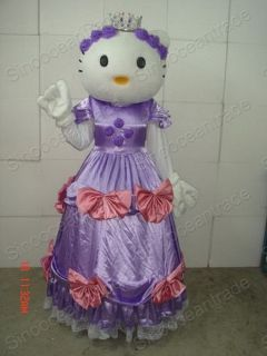 Hello Kitty Gatto Adulto Mascotte Costume Halloween EUR