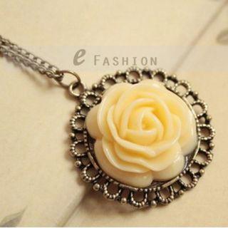 Anhänger Retro Gravur Damen Lange Kette necklace NEU 101 0400