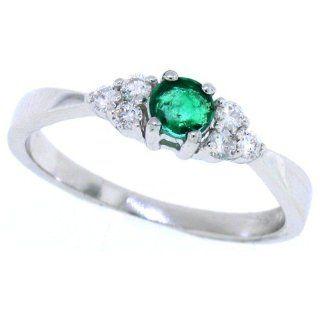 Ring mit Diamanten, 0,24 ct, in 14 kt Weißgold 55 Schmuck