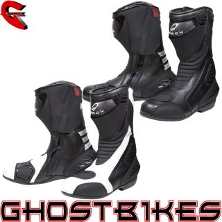 BLACK STRIKE WATERPROOF SPORT RACING MOTORCYCLE MOTORBIKE PERFORMANCE
