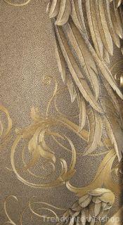 52€/m² Gold Barock Vliestapete Prunk Vlies Tapete Designer Harald
