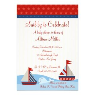 Blue Airplane Boy Baby Shower Invitation