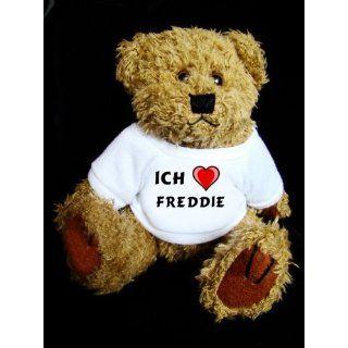 Teddy Bear mit Ich liebe Freddie t shirt Spielzeug