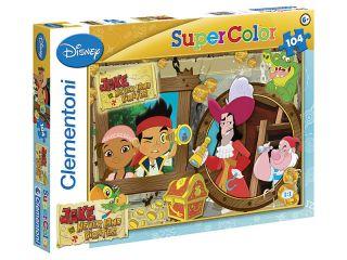 Puzzle 104 Teile  Hook  Jake und die Nimmerland Piraten  27844