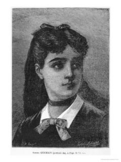 Sophie Germain Aged 14, Illustration from Histoire Du Socialisme, circa 1880 Giclee Print by Auguste Eugene Leray