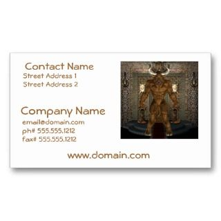 Minotaur Business Cards