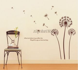 Dandelion fly DIY Removable Wall Art Deco Decal Sticker Wall Paper #42