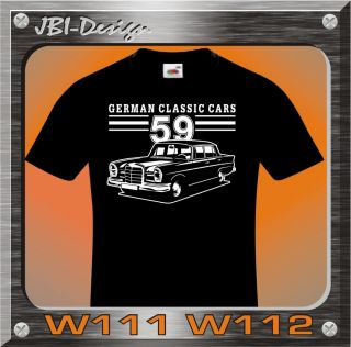Shirt Shirt Oldtimer Mercedes W111 W112 300 220 TOP