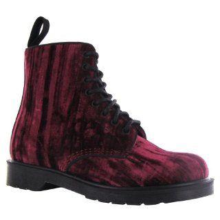 Dr.Martens Marvel Crushed Velvet Cherry Womens Boots