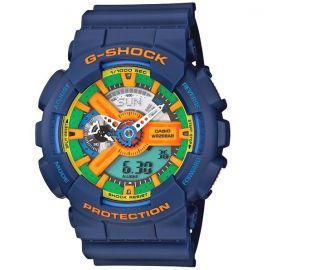 Casio G Shock GA 110FC 2AJF NEW 2011 FREE FAST Crazy Colors Present