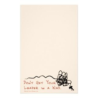 Funny Fly Fishing Leader Stationery