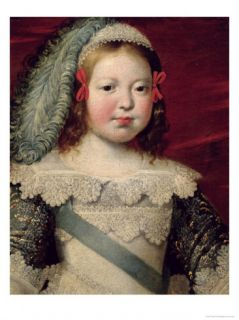 Portrait of Louis XIV as a Child, circa 1641 42 Giclee Print by Claude Deruet