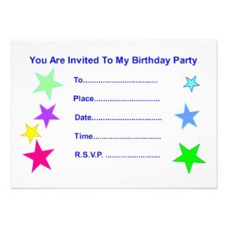 Happy Birthday Stars Personalized Invitation
