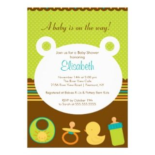 Sweet Baby Icons Girl or Boy Baby Shower Custom Invites