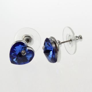 New Girl Fashion Crystal Heart Cut Stud Earrings Beautiful Ohrschmuck