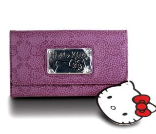 Loungefly ~ HELLO KITTY BLACK PATENT EMBOSSED WALLET