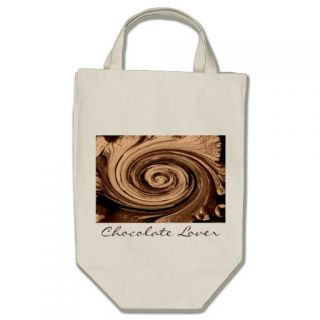 Chocolate Lover Chocolate Design Grocery Tote Bag