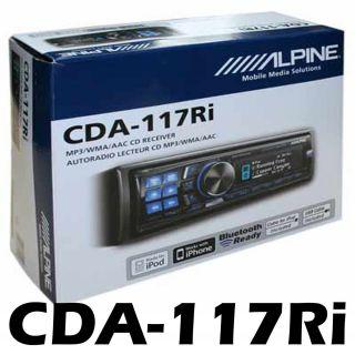 ALPINE CDA 117Ri HIGH END AUTORADIO  Laufzeitkorrektur  iPod/iPhone