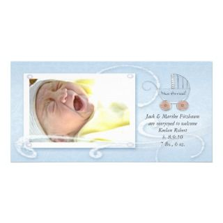 Baby Carriage New Arrival Announcement Photo Greeting Card