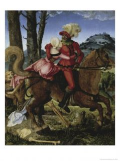 The Knight, the Young Girl and Death, 16th century Giclee Print by Hans Baldung Grien