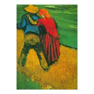 Van Gogh Two Lovers Personalized Invitation