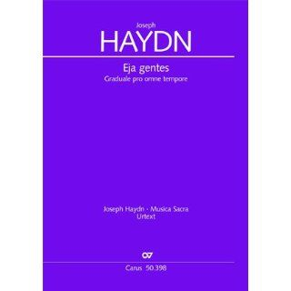 Haydn Eja gentes (Hob. XXIIIa C15). Partitur Joseph Haydn