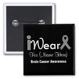 Brain Cancer Ribbon Buttons and Brain Cancer Ribbon Pins