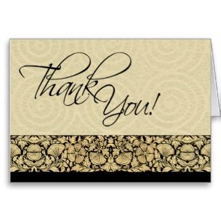 Lyric   Thank You Note Card