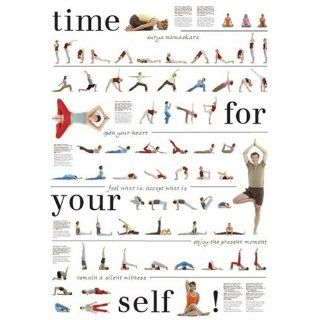 Yoga Poster mit 67 Asanas, Nice to meet Your Self Alle