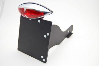 Kennzeichenhalter mit Rücklicht redlight für Honda Shadow 125