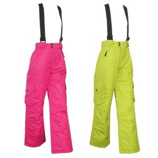 OFF Kinder Skihose Snowboardhose in grün und pink Gr. 116 176