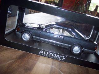 Mercedes Benz 500 SEC 1986 black W126, 1:18, Autoart,OVP,selten