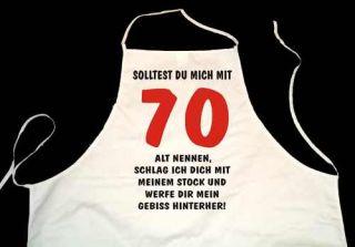 900 Fun Shirt SHOP Schürze JAHRGANG GEBURTSTAG 70 g117