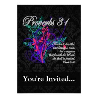 31 Bible Christian Womens Personalized Invitation