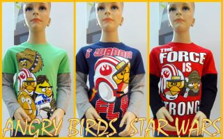 ANGRY BIRDS STAR WARS Langarm Shirt Gr.104/110,116/122,128/134,140