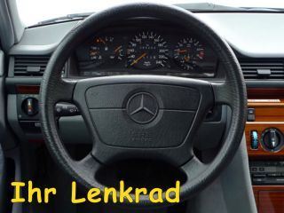 LEDER LENKRAD MERCEDES W124 W140 W210 W202 AZZURRO Look