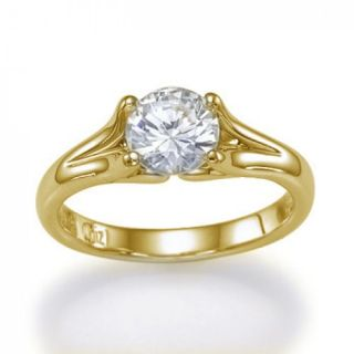 32 Carat G/VS2 18kt 750 Weißgold Diamantring Solitar Brillant Ring