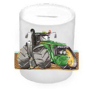 Personalisiertes Koolart   John Deere Tractor Car Sparschwein aus