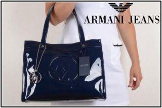 Tasche Armani Jeans Damen BLAU Lack   05232RJ Handbag Sac Cymka