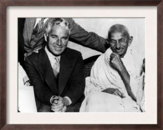 Charlie Chaplin and Mahatma Gandhi, London, England, September 22, 1931 Poster