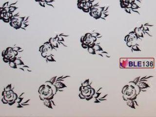 Nail Art Sticker Tattoo One Stroke BLE 136 schwarz