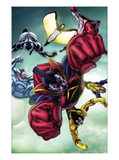 Nova #24 Group: Gladiator, Warstar, Earthquake, Manta, Flashfire and Electron Prints by Andrea Di Vito