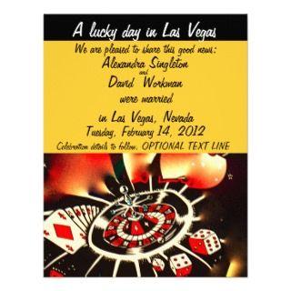 Las Vegas Casino Theme Marriage Announcement