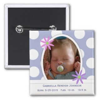 Newborn Baby Announcement Button