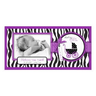Bow Polka Dots Graduation Announcement Photo Card